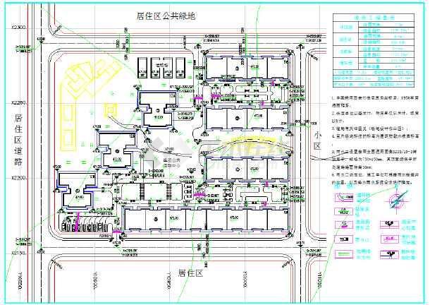某地区场地设计竖向布置图(含图例)