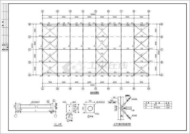 24米跨门式刚架轻型房屋钢结构厂房设计图