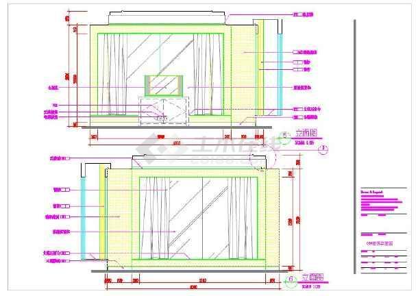 某五星酒店标间室内装修设计cad施工图_cad图纸下载