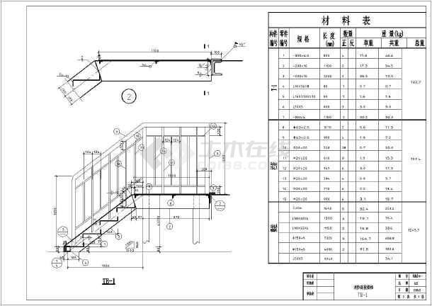 非常实用的室外消防钢楼梯CAD钳工(共4张)_c详图图纸图片
