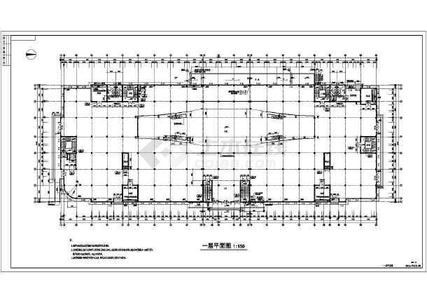 淮北市四层框架结构商场建筑设计施工图