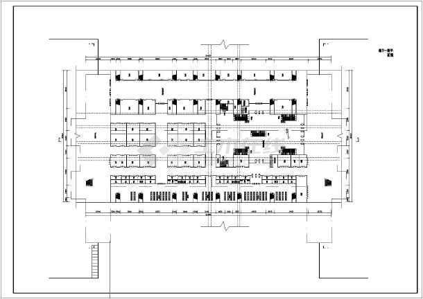 某地某框架结构火车站方案设计cad图纸