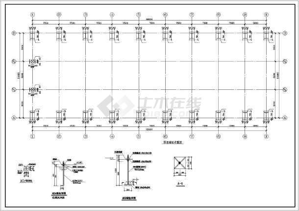 某24x66m带行车钢结构厂房建筑结构施工图