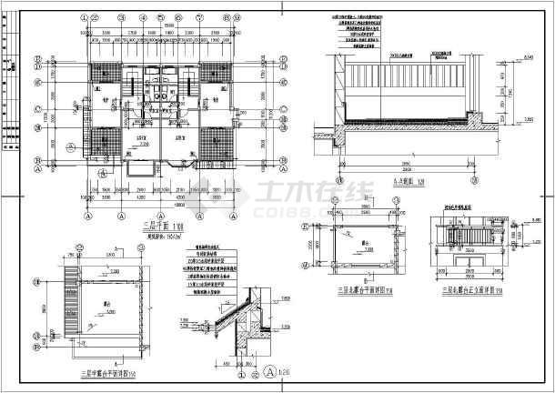 欧式土木_欧式墙体cad别墅建筑-轴线v土木别墅下载图纸图纸表示图片