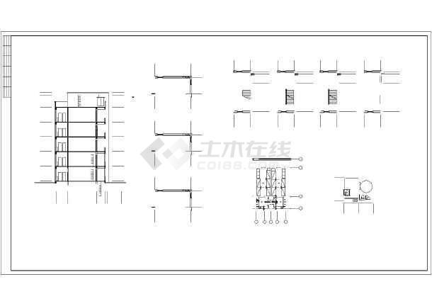 某学校六层无障碍宿舍楼建筑设计施工图_cadcad文字无法拉动图片
