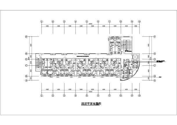 某五层框架结构快捷酒店室内装修设计施工图