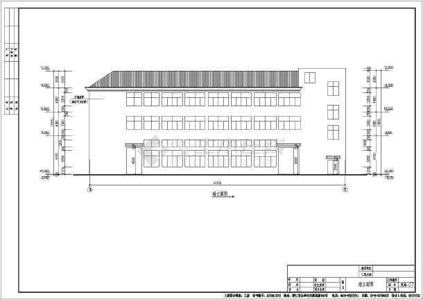 某地三层木屋架框架结构厂房建筑施工图