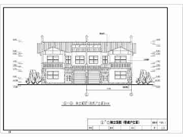农村两层房屋楼房外观设计图图片