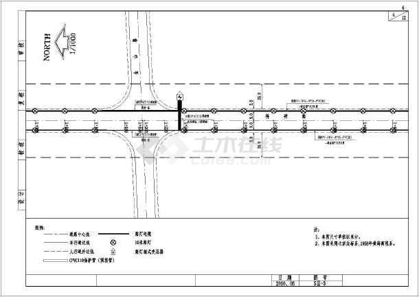 某条市政道路路灯工程设计施工图纸