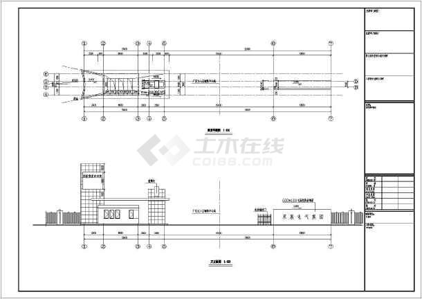 室建筑及结构设计方案图  简介:该为某公司大门及门卫室及,含水,电.