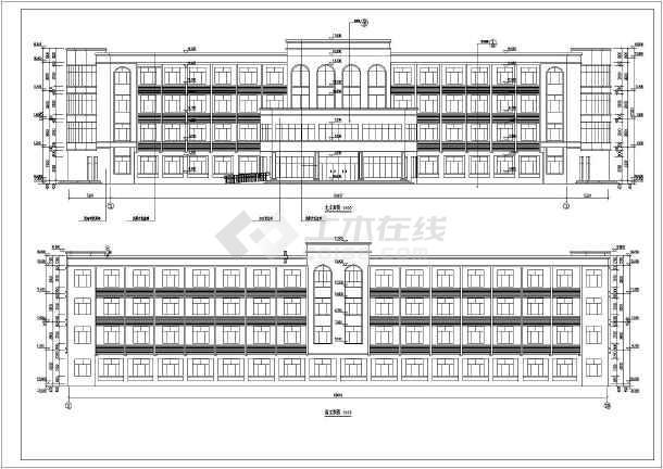图纸 建筑图纸 办公楼设计 办公建筑方案 河南错层弧形大中庭综合办公