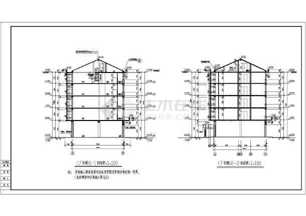 图cad住宅楼梯剖面图小区住宅楼平面图小区剖面图小区景观设计剖面图