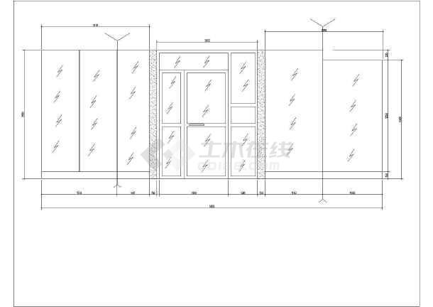 【天津】某一售楼处大楼的建筑、结构、水电装修图-图3