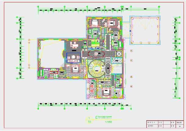 图纸 装修设计 别墅装修 欧式别墅装修 知名楼盘三层豪华别墅施工图