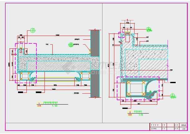 欧式砖砌壁炉施工图