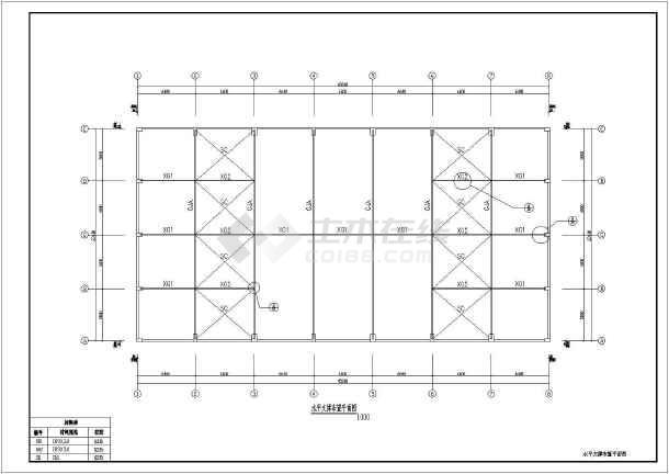 弧形钢管桁架轻型钢结构厂房结构设计施工图-图2