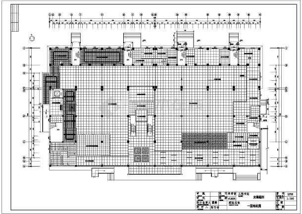 某地区的某大型超市的建筑设计平面施工图室内设计培训班武汉图片