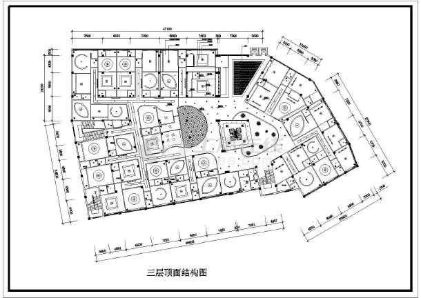某地区酒店顶面装修设计图(共3张)