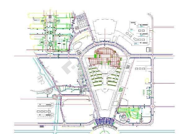 某七层图书馆建筑设计图纸(附效果图),其包含的内容为平面图,设计说明