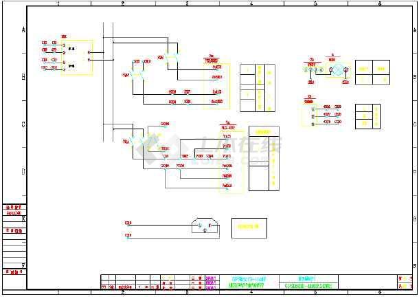 某热电厂2XX135135MW工程施工工程配电图纸(百余图纸系统埃菲尔铁塔图片