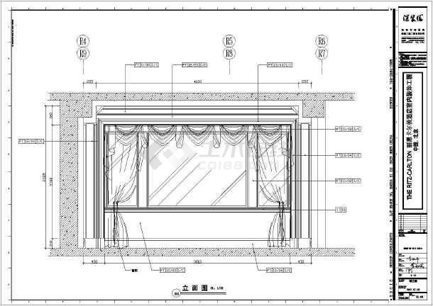 北京高层框架结构酒店标准间客房室内装修设计竣工图