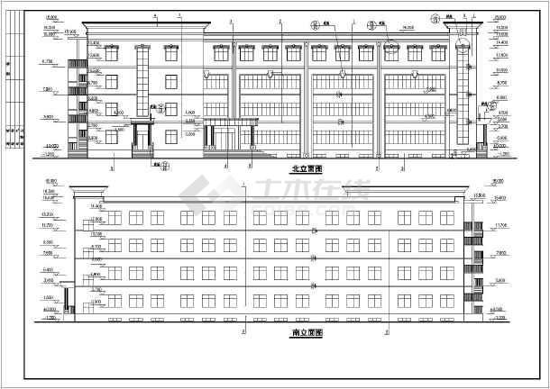 某地四层框架结构中学教学楼建筑设计施工图纸
