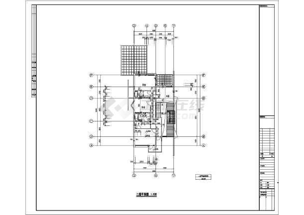 某地两层砖混结构小别墅建筑设计施工图纸