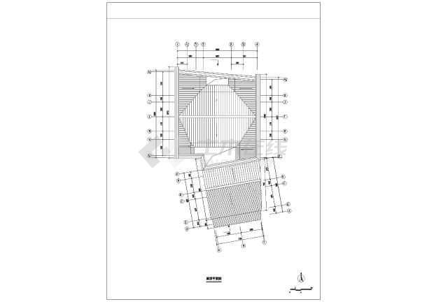 设计图纸,图纸内容包含:一层建筑平面图,二层建筑平面图,屋顶平面图