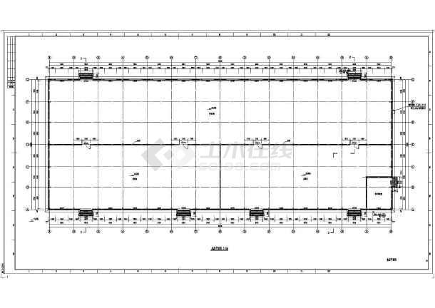 某地单层钢结构高低跨仓库建筑及结构施工图