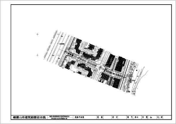 图纸 路桥图纸 城市道路 城市道路设计图 峨眉上开发区万坎步行街设计