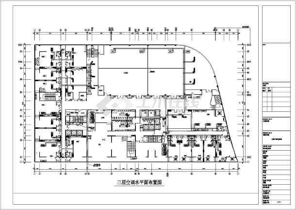 中央空调 酒店宾馆空调设计图 达州某酒店水冷冷水机组风机盘管加新风