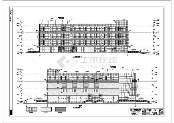 建筑 框架结构/某地区4层框架结构商场建筑方案图/图1