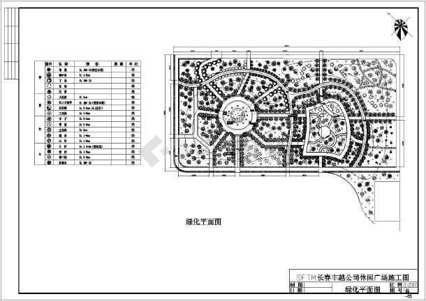 苗木表,道路及灯位位置平面图,水池配筋图,石子路平面图,,小广场平面