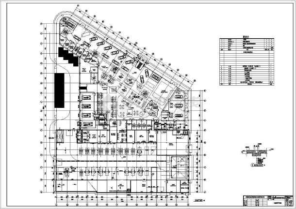 郑州某地奔驰汽车4s店建筑施工图纸