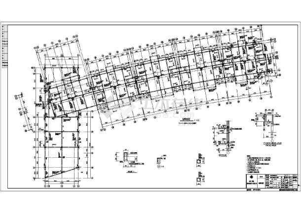 图纸包括:结构设计总说明,桩定位图,承台平面布置图,地梁配筋图,柱