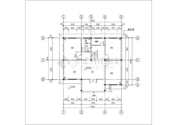 旅馆建筑设计平面图_某小区三层住宅建筑设计户型平面图_cad图纸下载-土木在线