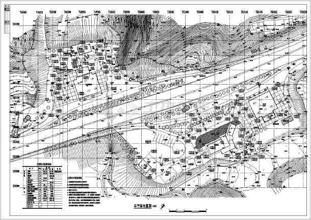某山区高速公路服务区总平面布置图