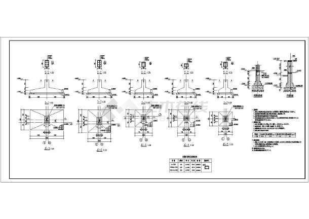 64m双联跨车间图钢结构施工图纸-图二