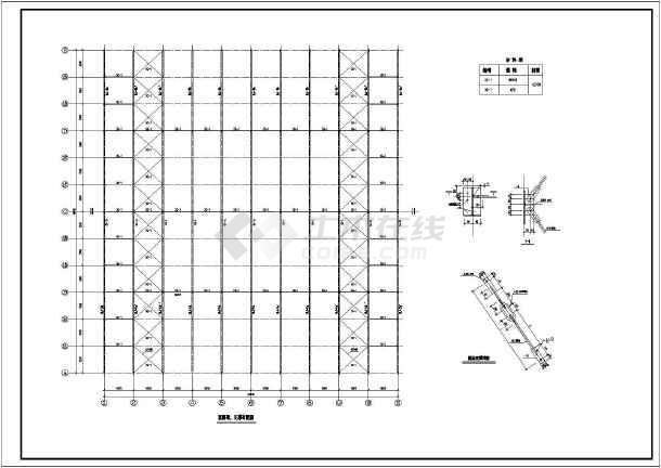 图纸 建筑结构图 厂房结构设计 框架结构厂房 66mx60m两层钢结构厂房