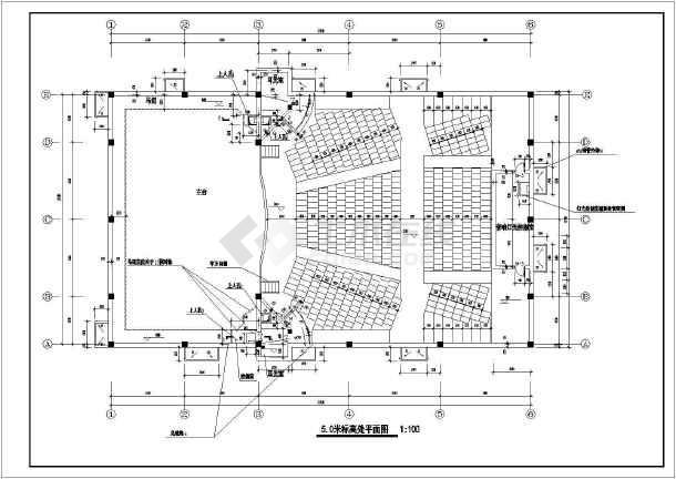 某框架结构小型剧场建筑施工设计图