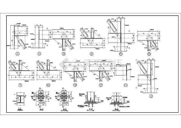 彩钢房结构图纸钢框架结构图纸钢混结构图纸结构图集