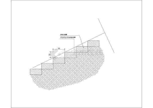 月亮湖环线景观节点土建地线竖向施工及大样图