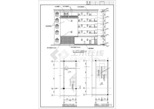 旅馆建筑设计平面图_学生课程设计某五层小旅馆建筑设计方案_cad图纸下载-土木在线
