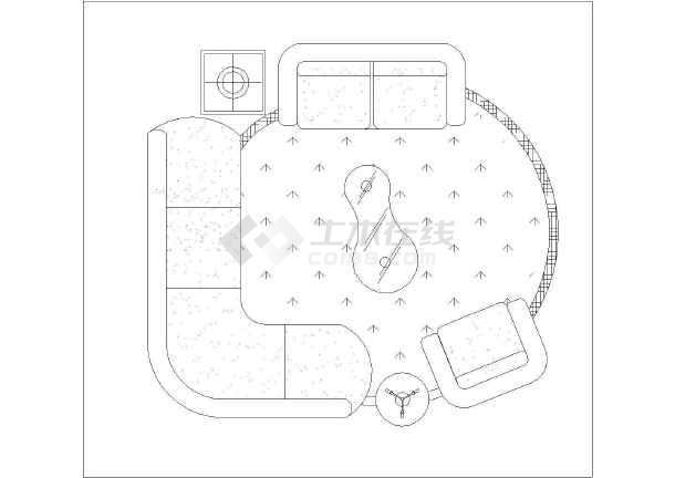 cad平面家具图块