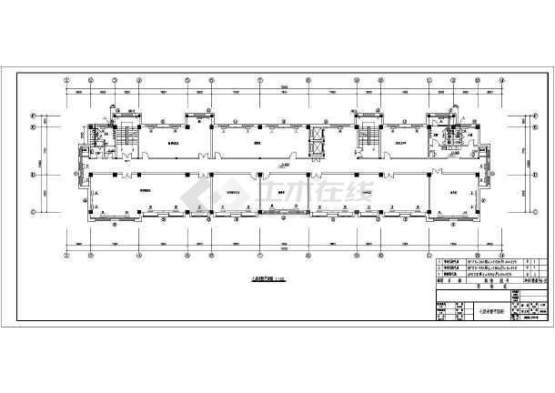本图纸为八层办公楼采暖系统平面设计图,包括首层防排烟平面图,二层图片