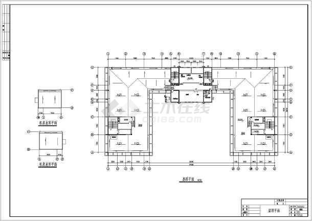 某大学12层教学办公楼平面图设计方案图纸