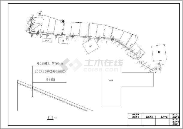 某公司院内锚杆挡墙结构设计施工图