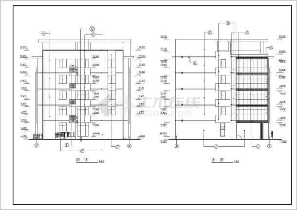 某大学学生宿舍楼建筑设计图