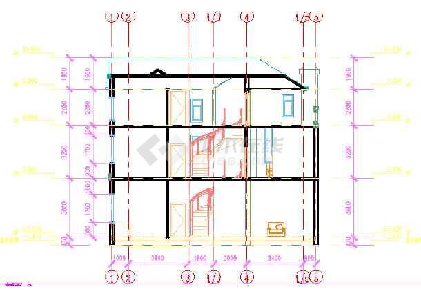 新农村三层小别墅建筑设计图纸图片