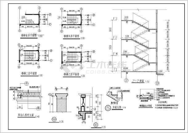 某三层别墅建筑设计图(长13米 宽10米)